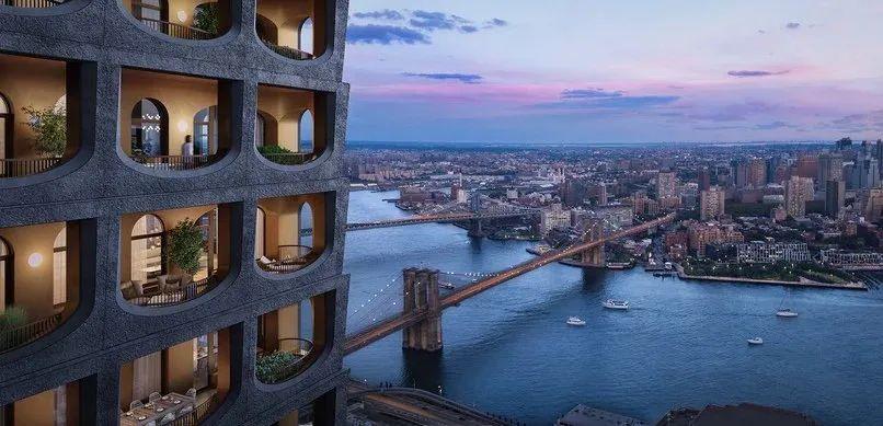 Two bro房源|大师级作品,英国爵士首座纽约住宅设计!金融区罕见手工立面混凝土建筑!