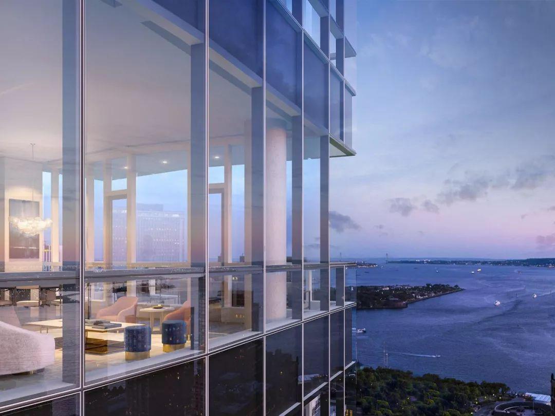 格林威治街77号—77 Greenwich St, New York 10006 金融区水晶大楼,两大建筑巨擘打造私人云端俱乐部