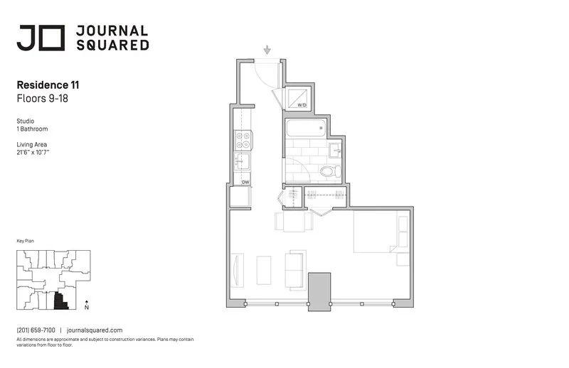TwoBro房源 新泽西地标轻奢大楼Journal Squared